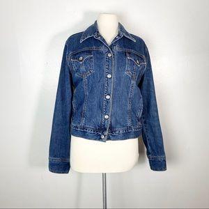 Levi's Denim Weekend Jacket Cotton Jean Snaps